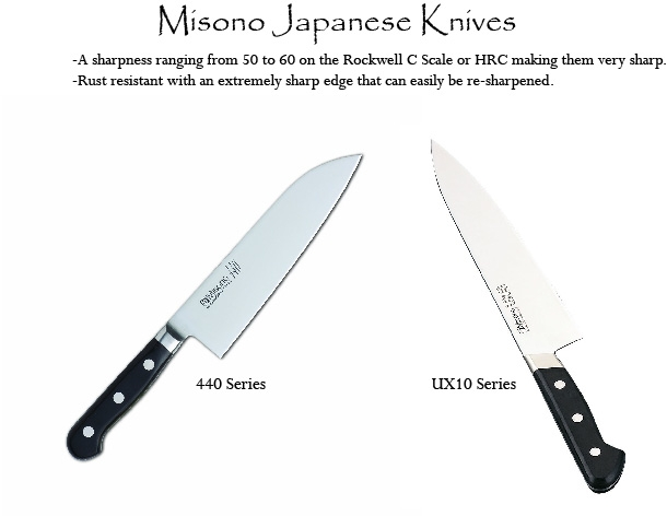 Misono Japanese Knive series 440 and UX10 - Benefits