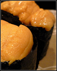Sea Urchin Sushi http://www.flickr.com/photos/47961249@N05/