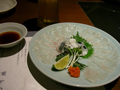 Fugu Sashimi by jetalone, on Flickr
