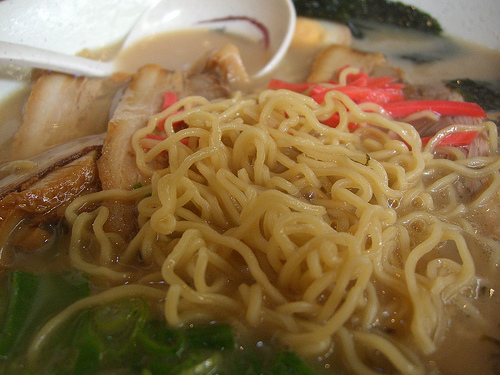 Ramen noodles close-up - Ramen Ya by avlxyz, on Flickr