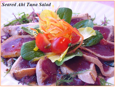 Ahi tuna using Nippon Shokken Condiment and Dressings