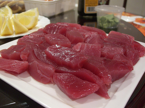 Uncle Beng's Yellowfin Tuna Sashimi by avlxyz