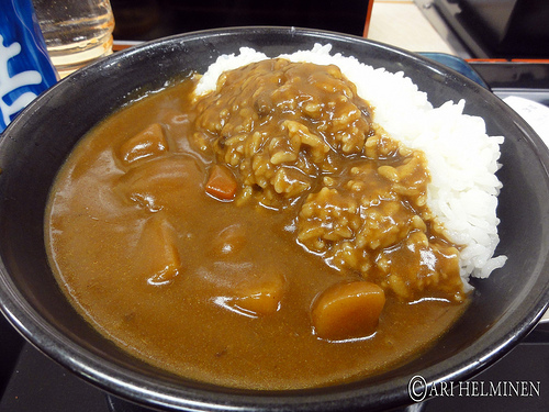 Japanese curry with rice at Yoshinoya by Ari Helminen, on Flickr
