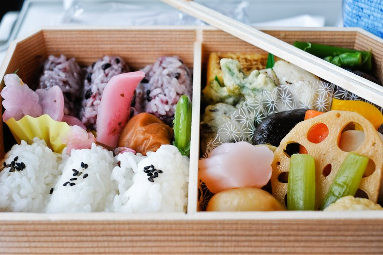 Bento on a Train in Japan. Also known as Ekiben