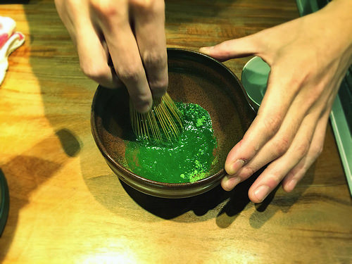 Bamboo chasen to whisk koicha by T.Tseng, on Flickr
