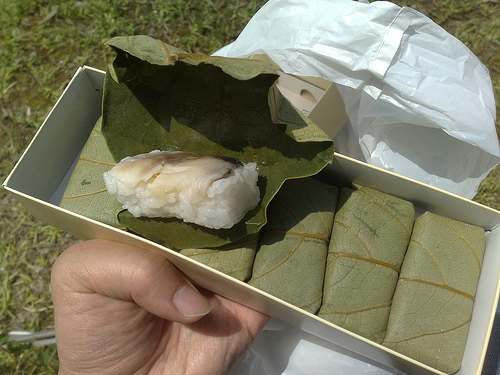Kakinoha sushi by _Yuki_K_, on Flickr