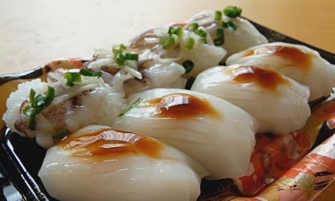 Resultado de imagem para Ika sushi